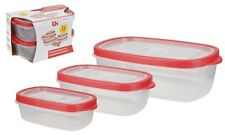 12 Unit Plastic Food Cereal Containers| Air-Tight  Food Storage Box Basket UK