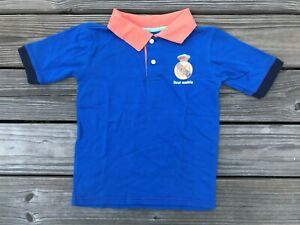Kids Boys Polo Tee Blue Orange Short Sleeve T Shirt Size 6-7 years read desc