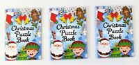 Pack of 3 Christmas Puzzle Books - Xmas Stocking Fillers - Party Favours