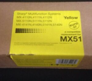 Brand New Sharp MX51 Compatible Toner Replacement - Yellow