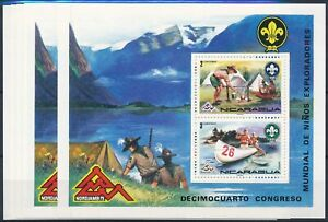 [P5879] Nicaragua 1973 Scouting good sheets (5) very fine MNH
