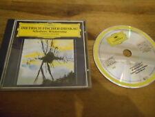 CD classique Fischer-Dieskau-Schubert: hiver Voyage (24 chanson) DT phonographe JC
