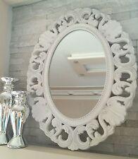 Außergewöhnlich Wandspiegel Barockspiegel 58x45 Cm Weiß Holz Shabby Oval Barock Spiegel  Landhaus