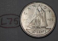 Canada 1972 10 cents Elizabeth II Canadian Dime Lot #L75