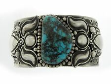 Red Mountain Turquoise Bracelet Cuff Navajo Zuni Alex Sanchez Sterling Silver