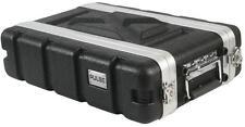 Corto 2U ABS Vuelo Rack 19 pulgadas equipo DJ PA caso Flightcase * B Stock *