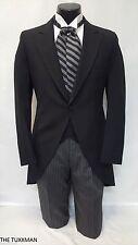 40 S Mens Black Cutaway Tuxedo Morning Coat Victorian Renaissance Wedding Jacket