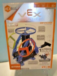 "NEW HEXBUG VEX ROBOTICS EASY SNAP PIECES "" ZIP FLYER LAUNCHER "" 3 DISCS 406-4559"