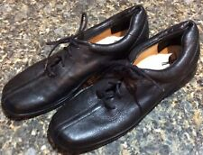 Ros Hommerson 7.5N 7.5 Narrow Black Leather Lace Up Comfort Flats