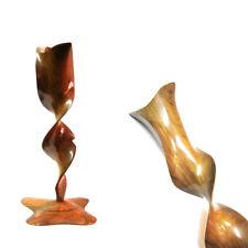 Rare spiral corkscrew wooden treen swirl whirl candle holder modern desing
