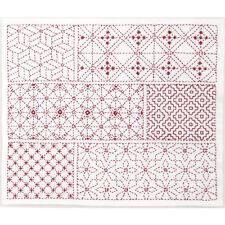 Japanese Embroidery  SASHIKO Kit HOBBYRA HOBBYRE YOSEMOYOU  From JAPAN