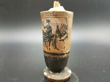 ATTIC BLACK GREEK LEKYTHOS PROFESSIONALLY APPRAISED WITH CERTIFICATE 2/3