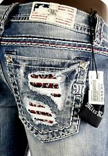 """$118 Buckle Miss Me """"Freedom Stars & Stripes"""" Capri 27 Dead Stock - Sold Out"""