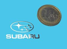 SUBARU METALLIC CHROME EFFECT STICKER LOGO AUFKLEBER 30x18mm [772]