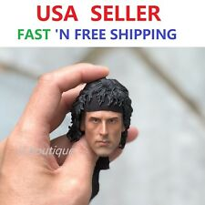 "CUSTOM Sylvest Stallone RAMBO 1/6 Head Sculpt for 12"" Male Figure Doll PHICEN"