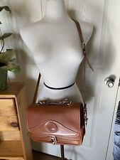 Authentic Vintage Dooney And Bourke Crossbody Tan/Brown Leather Bag USA Made