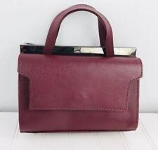 Alberta di canio handbag Purse Mini Mel  Maroon burgundy Small