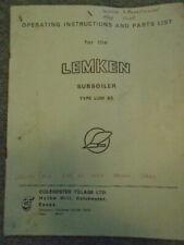 Lemken Subsoiler LUM 85 Parts List Colchester Tillage   9703E