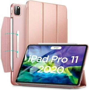 """ESR Yippee Trifold Smart Case Cover for iPad Pro 11"""" 2018 and 2020 Rose Gold"""