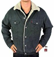 Levi's Men's Classic Corduroy Sherpa Fleece Lined Trucker Jacket 705203546 Large