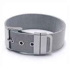 MENDINO Men's Stainless Steel Bracelet Classic Mesh Watchband Cuff Buckle Bangle