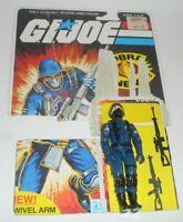 1983 GI Joe Cobra Soldier Swivel Arm v1.5 Figure w/ File Card Back *Complete