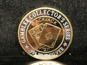 Casino Queen Blackjack 999 Pure Silver Casino $20 Gaming Token