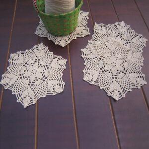 Cotton Handmade Coasters Doilies Table Mat Crochet Party Placemat Wedding Decor