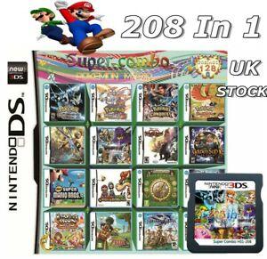 208in1 Games Cartridge Multicart For Nintendo DS NDS NDSL NDSI 2DS 3DS UK SELLER
