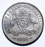 1936 Australia One 1 Florin - George V - Lot 782