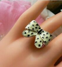 Retro Chic Polka Dot Ring Funky Unusual Gift for Her Womens Present