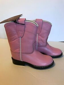 NWT Pink Leather Cowboy Boots Cowgirl Sz 4.5 Toddler Girls Old West #4319