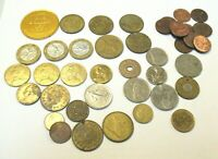 MIXED LOT OF COINS AND TOKENS INSTANT COIN TOKEN COLLECTION!   180 GRAMS