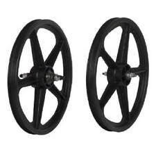 Skyway Tuff Wheels II 5 Spoke Composite 20 x 1.75 FW Mag Wheel Set BMX (Black)