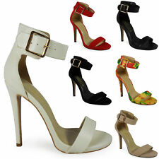 Women's Stiletto Strappy, Ankle Straps Faux Suede Shoes