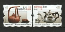 PORTUGAL 2019 DIPLOMATIC RELATIONS WITH CHINA TEA CULTURE COMP. SET OF 2 STAMPS