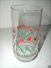 Corelle CASEY'S FLOWERS Dutch Red Tulip Glass Tumbler