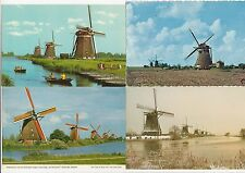Lot 4 cartes postales anciennes PAYS-BAS HOLLANDE NEDERLAND MOLEN MOULIN 4