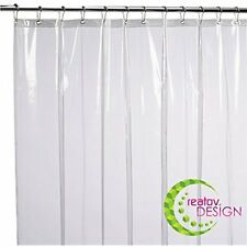 Mildew Resistant Shower Curtains Hooks & Liners 72x72 Clear Peva For Bathroom