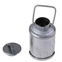 1:12 Maison de poupée Miniature Accessoires Ferme Métal Lait Peut Kettle Pot