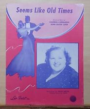Seems Like Old Times - 1946 sheet music - Kate Smith  photo cover