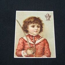 ANTIQUE TRADE CARD-DILWORTH'S COFFEE-VICTORIAN-BOY SOLDIER-URN LOGO