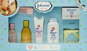 Johnson's Baby Care Collection kit with Organic Cotton Baby Tshirt 7 Gift Item