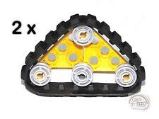 LEGO Technic - 2 x Mini Tank Tread Assembly - Yellow - New - (NXT,EV3,Mindstorm)