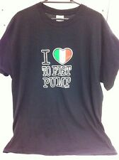 I Love To Fist Pump T-Shirt T Shirt shirt Italian Heart Jersey Shore Large New