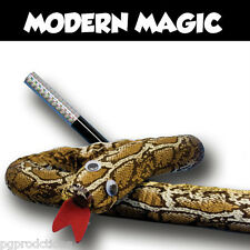 MAGIC WAND TO JUMBO SNAKE Metal Spring Out Trick Kid Clown Pop Up Prop Comedy