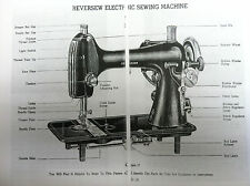 REVERSEW ELECTRIC SEWING MACHINE INSTRUCTION MANUAL