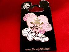 Disney * PIRATE PRINCESS * POTC Sparkle Heart Skull Roses Trading Pin
