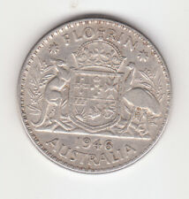 1946 Australian Silver TWO Shilling Florin KING GEORGE VI  (very Nice)