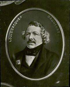 Portrait of Louis Jacques Mandé Daguerre - 8x10 photo